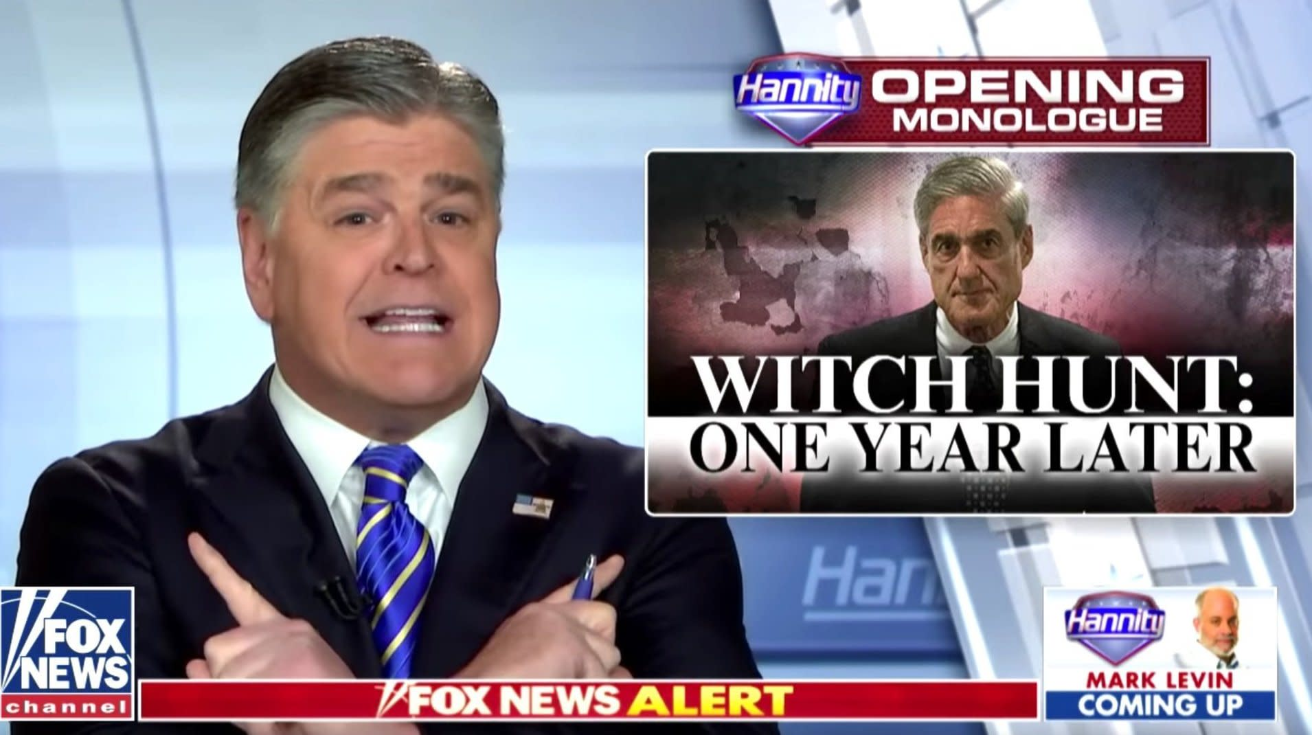 Hannity Flips Out: Mueller Probe 'Is A Direct Threat To This American Republic'