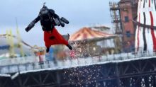 Real-life Iron Man breaks speed record in jet-engine-powered suit