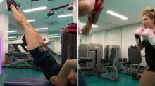 """Grazi Massafera mostra rotina de treinos com personal: """"Isso é o que fazemos"""""""