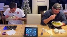 Man breaks world record for most Brussels sprouts eaten in a minute