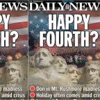 Presidents Of Mount Rushmore Look Highly Concerned On New York Daily News Cover