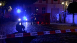 Bomb-carrying Syrian dies outside German music festival; 12 wounded