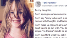 Mom writes an empowering list of 'Don'ts' for her daughter