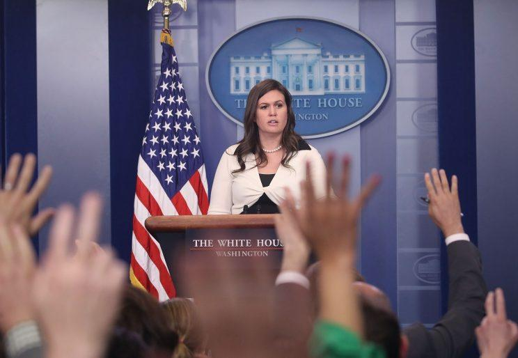 White House deputy press secretary Sarah Huckabee Sanders.