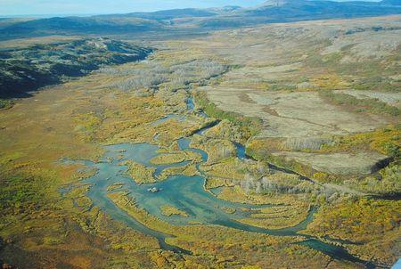 Handout photo of a view of the Upper Tularik Floodplain in the Bristol Bay watershed in Alaska