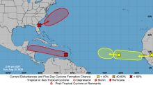 Three tropical disturbances are being watched in the Atlantic. Two are heading west