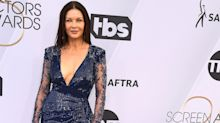 49-year-old Catherine Zeta Jones wows fans with plunging gown