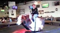 Woman Faceplants on Rowdy Mechanical Bull