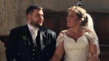 Bride and groom donate wedding feast to 400 NHS staff after their reception got cancelled due to coronavirus