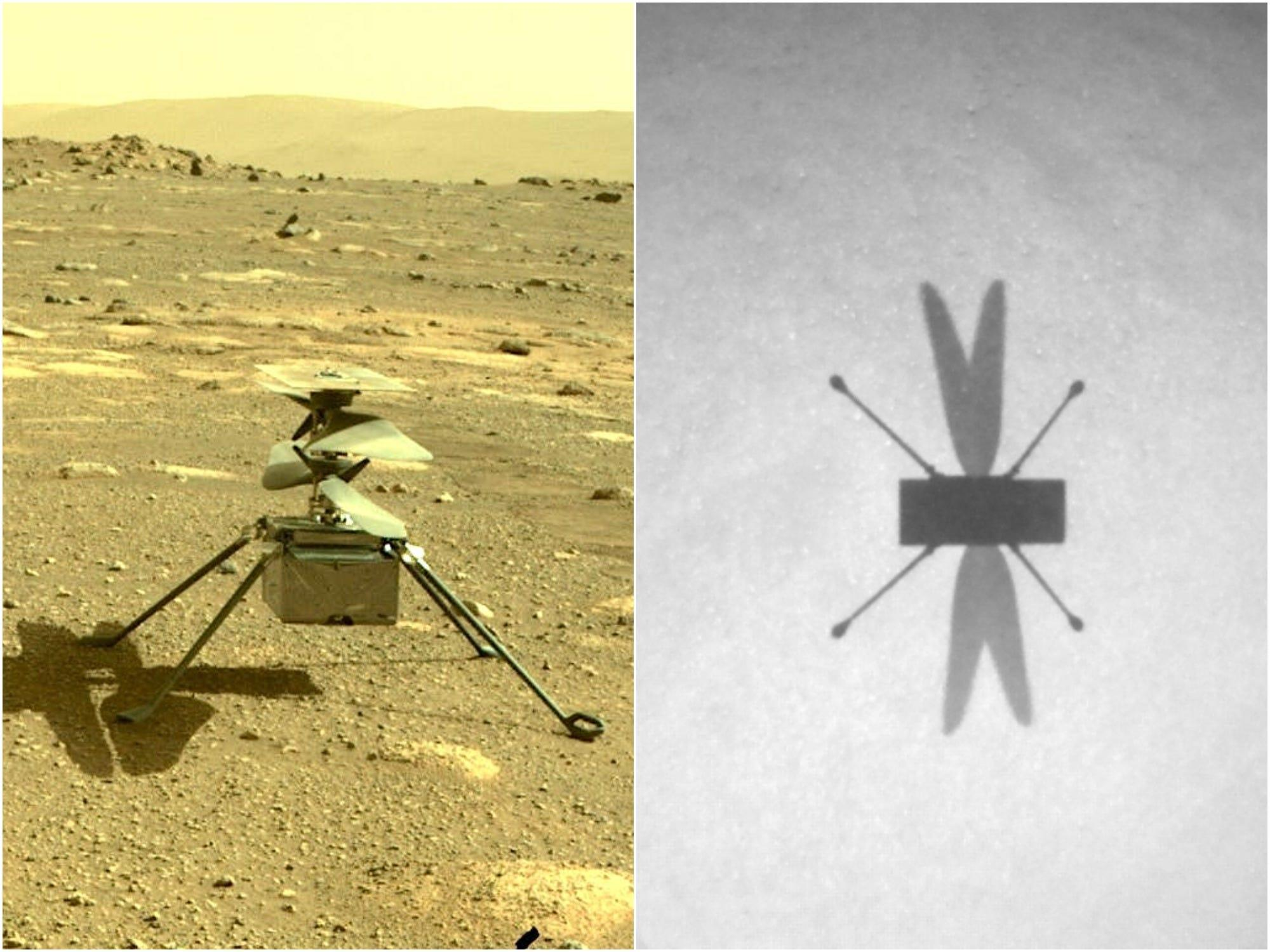 NASA's Mars helicopter has now flown successfully 8 times, beaming back photos that look like a sci-fi film