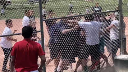 Youth baseball game descends into all-out brawl