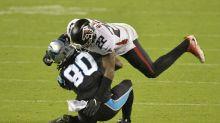 Falcons interim coach Raheem Morris wins second game in three tries as Atlanta beats Carolina