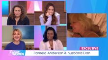 Pamela Anderson's Loose Women interview labelled 'peak 2021 energy' as star stays in bed