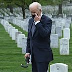 Biden Visits Arlington Cemetery After Afghanistan Withdrawal Speech