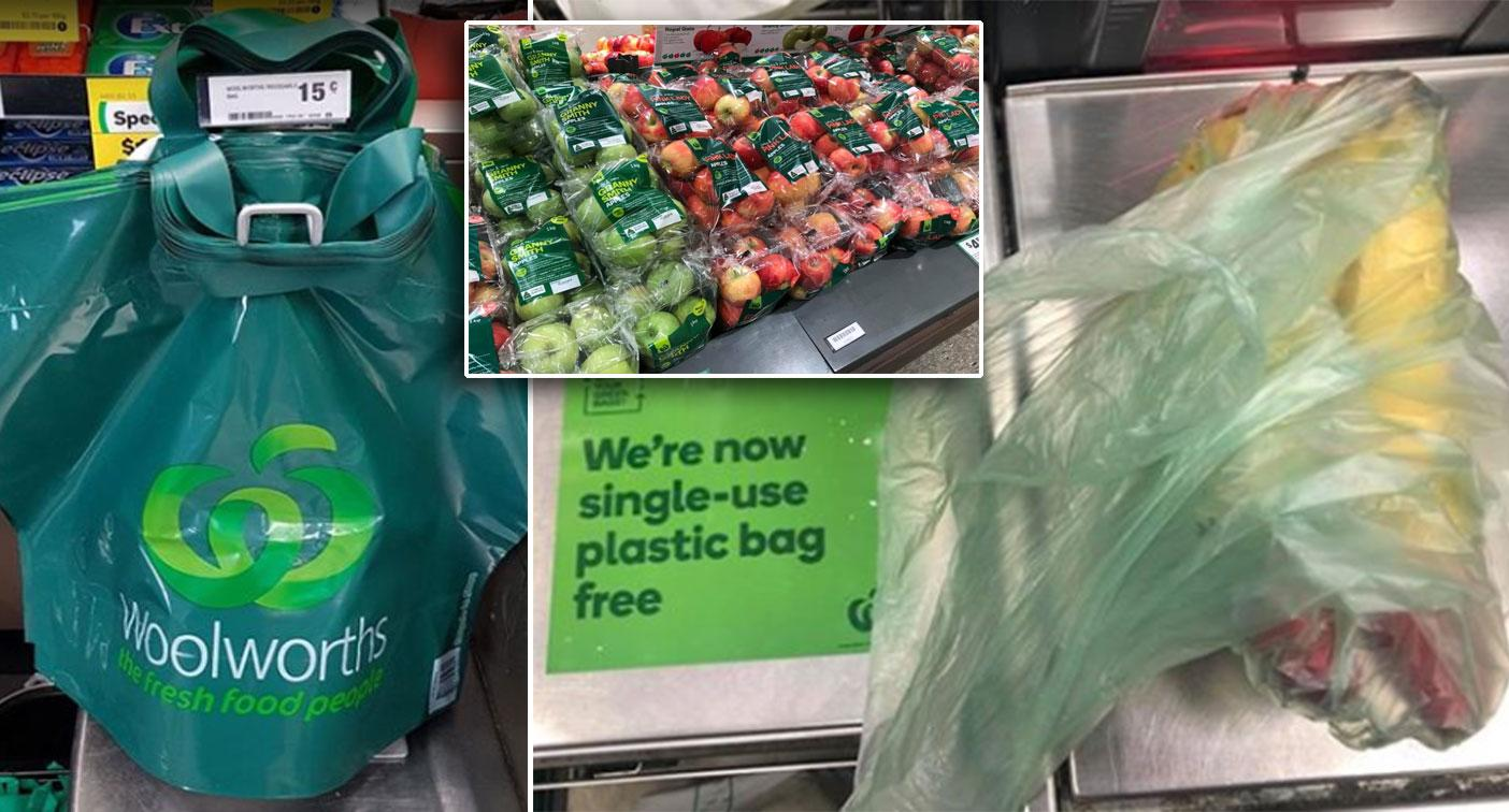 'Not a good look': Customers slam Woolworths over plastic bag ban