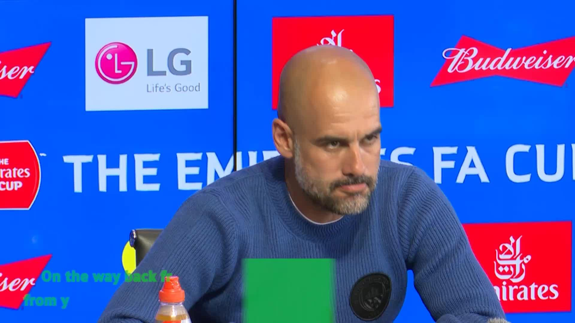 Guardiola apologises about Liverpool song