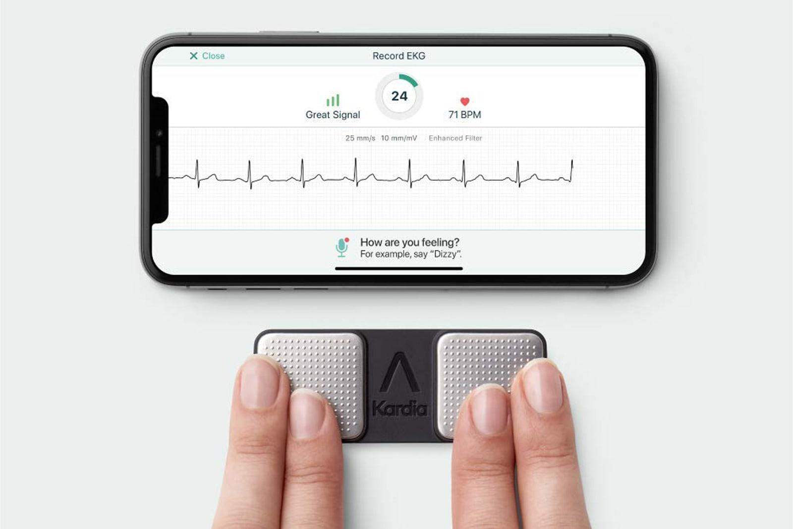 FDA clears first personal ECG device to detect three heart arrhythmias | Engadget
