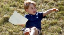 Watch Prince George Playfully Get Pushed Down a Hill By His Cousin During Royal Polo Match