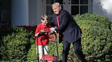Trump surprises 11-year-old who volunteered to mow the White House lawn