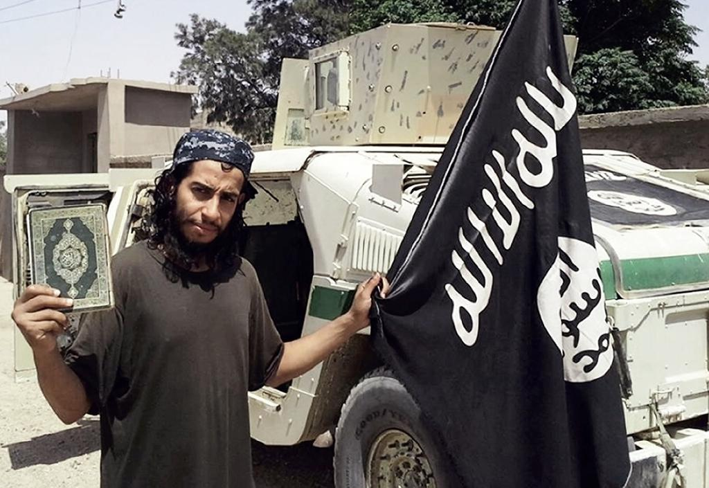 Abdelhamid Abaaoud, the Belgian suspected of orchestrating the Paris attacks, pictured in a February 2015 issue of the Islamic State group's online English-language magazine Dabiq (AFP Photo/)