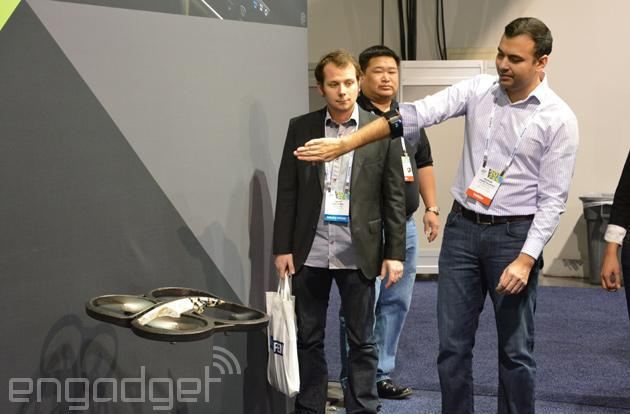When Parrot AR.Drone meets Myo armband, magic ensues (video)