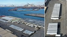 Devastating truth behind photos of what look like white shipping containers