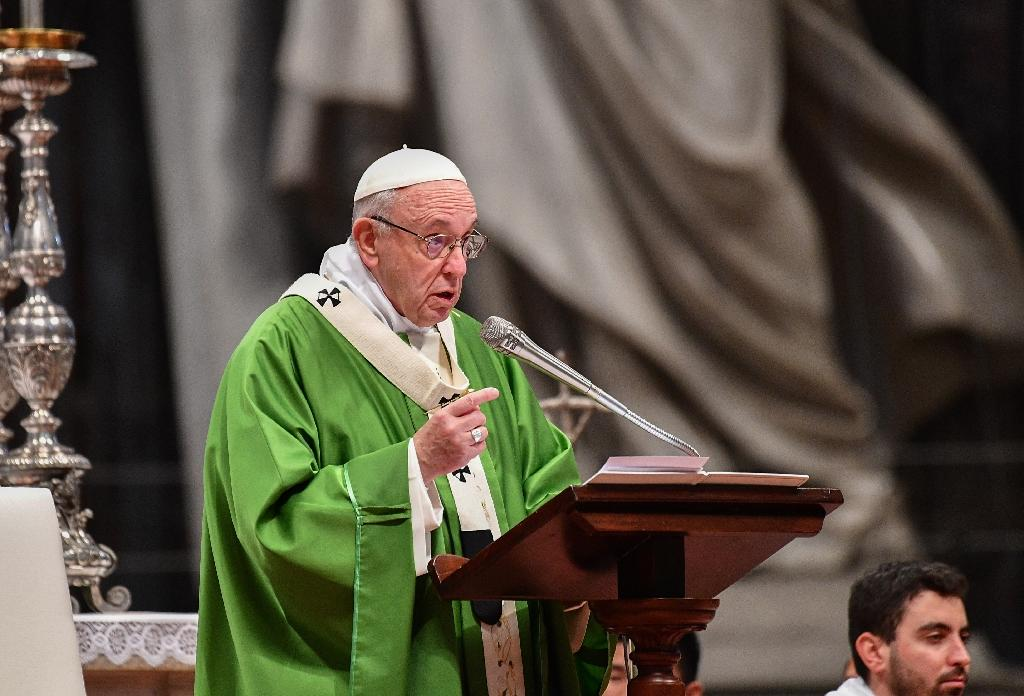 Pope Francis, himself the son of immigrants to Italy from Argentina, has championed the cause of migrants and asylum seekers since his election in 2013. (AFP Photo/VINCENZO PINTO)