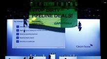 Greenpeace gatecrashes Credit Suisse shareholder meeting