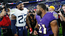 Mark Ingram defends himself against hilarious picture with Derrick Henry