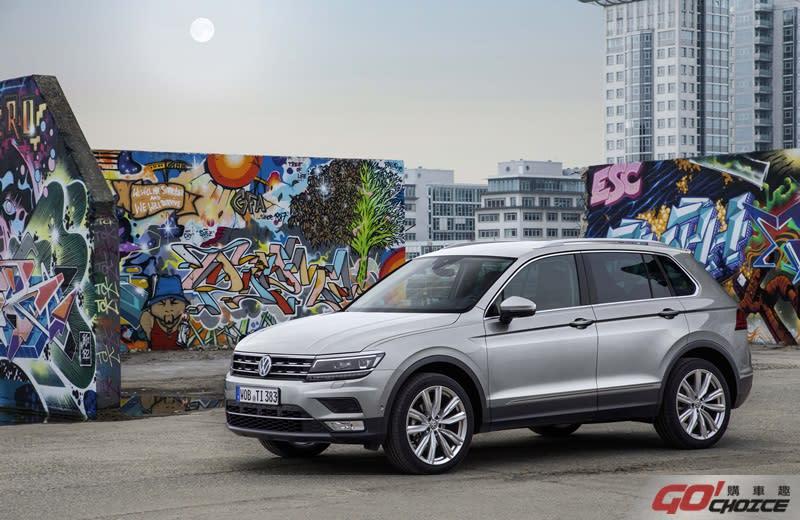 現購Tiguan、Tiguan Allspace指定車型,即享首年月付9,999元含第5年保固等多元購車優惠。