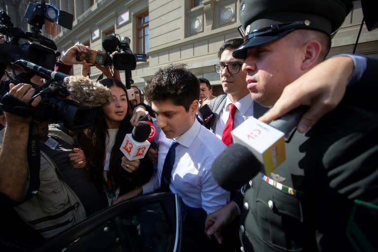 Prosecutors believe Nicolas Zepeda, seen here in Santiago in March of 2020, killed his ex-girlfriend Narumi Kurosaki in the French city of Besancon in a jealous rage in 2016 (AFP Photo/Claudio REYES)