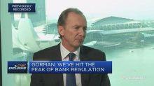Morgan Stanley CEO: 'We've hit the peak of bank regulatio...