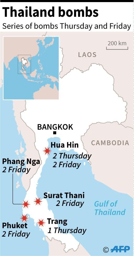 Blasts in Thailand (AFP Photo/)