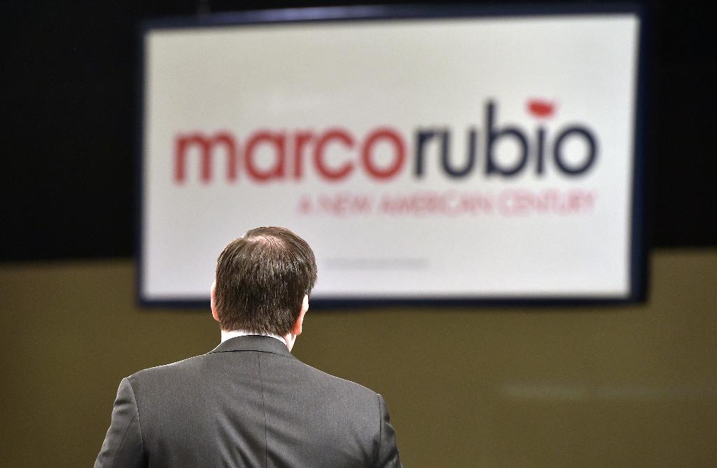 Republican presidential hopeful Marco Rubio speaks during a campaign event in Las Vegas on February 23, 2016 (AFP Photo/Josh Edelson)