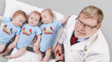 "This Doctor Formed a ""Baseball Team"" After Delivering Three Sets of Triplets"