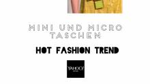 Hot Fashion Trend: Taschen tragen wir jetzt im Mini und Micro Format