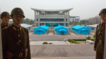 North Korean soldier shot by his own troops as he tries to flee border and defect to the South