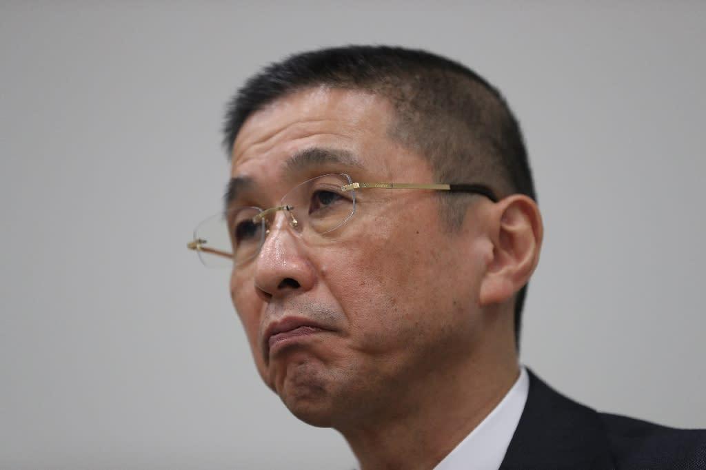 Nissan CEO Hiroto Saikawa said the Ghosn era had a 'dark side' (AFP Photo/Behrouz MEHRI)