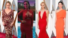 Who wore it best? Red hot Oscar dresses