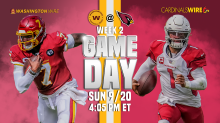 Cardinals vs. Football Team: How to watch, stream, listen to game in Week 2