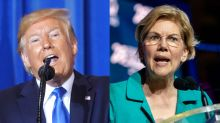 Twitter loses it as Trump declares himself 'so great-looking,' attacks Elizabeth Warren as 'skinny version of Pocahontas'