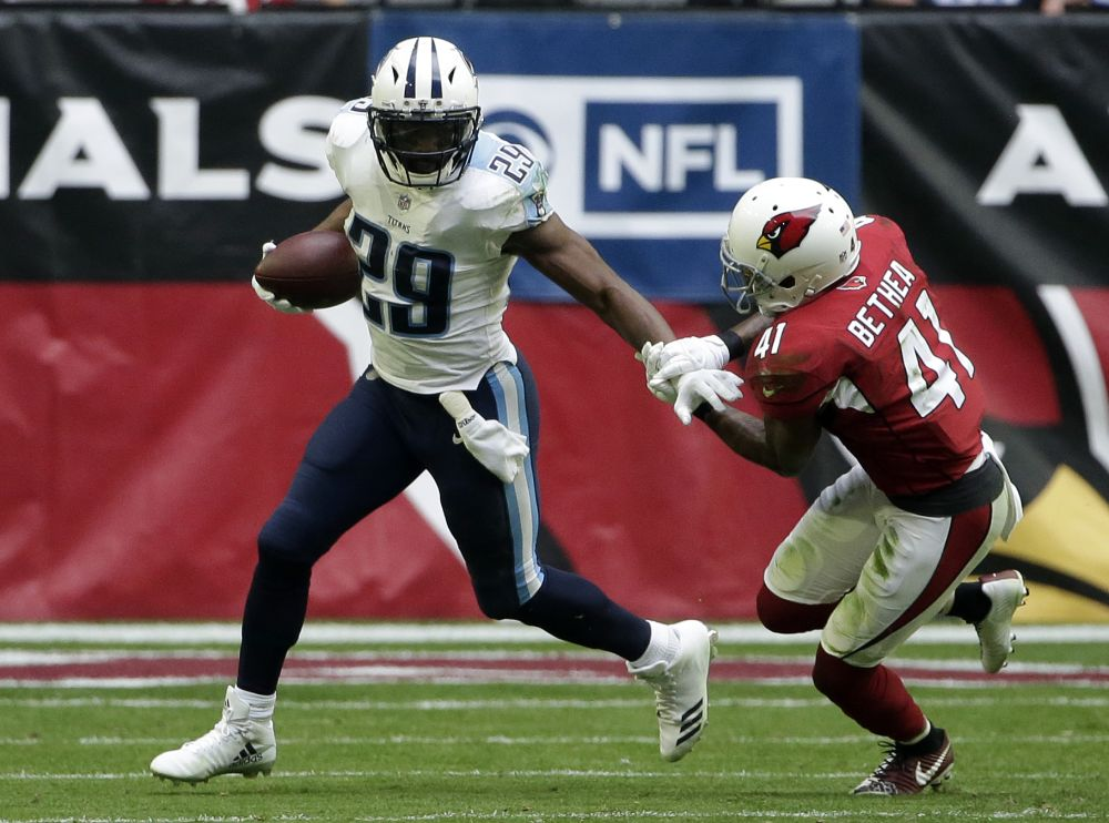 Tennessee Titans running back DeMarco Murray has been ruled out for this week's game against the Patriots. (AP)