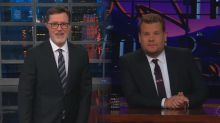 Stephen Colbert and James Corden speak out following Les Moonves exit