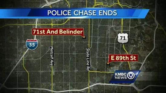 Police arrest driver after chase in FedEx truck