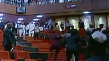 Men Storm Nigerian Senate, Steal Mace