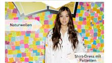 Look des Tages: Hailee Steinfeld im Shirt-Dress