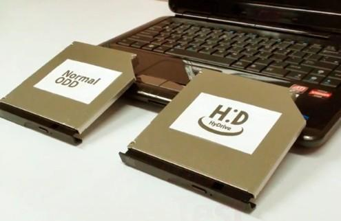 Hitachi-LG teases HyDrive: an optical reader with loads of NAND (video)