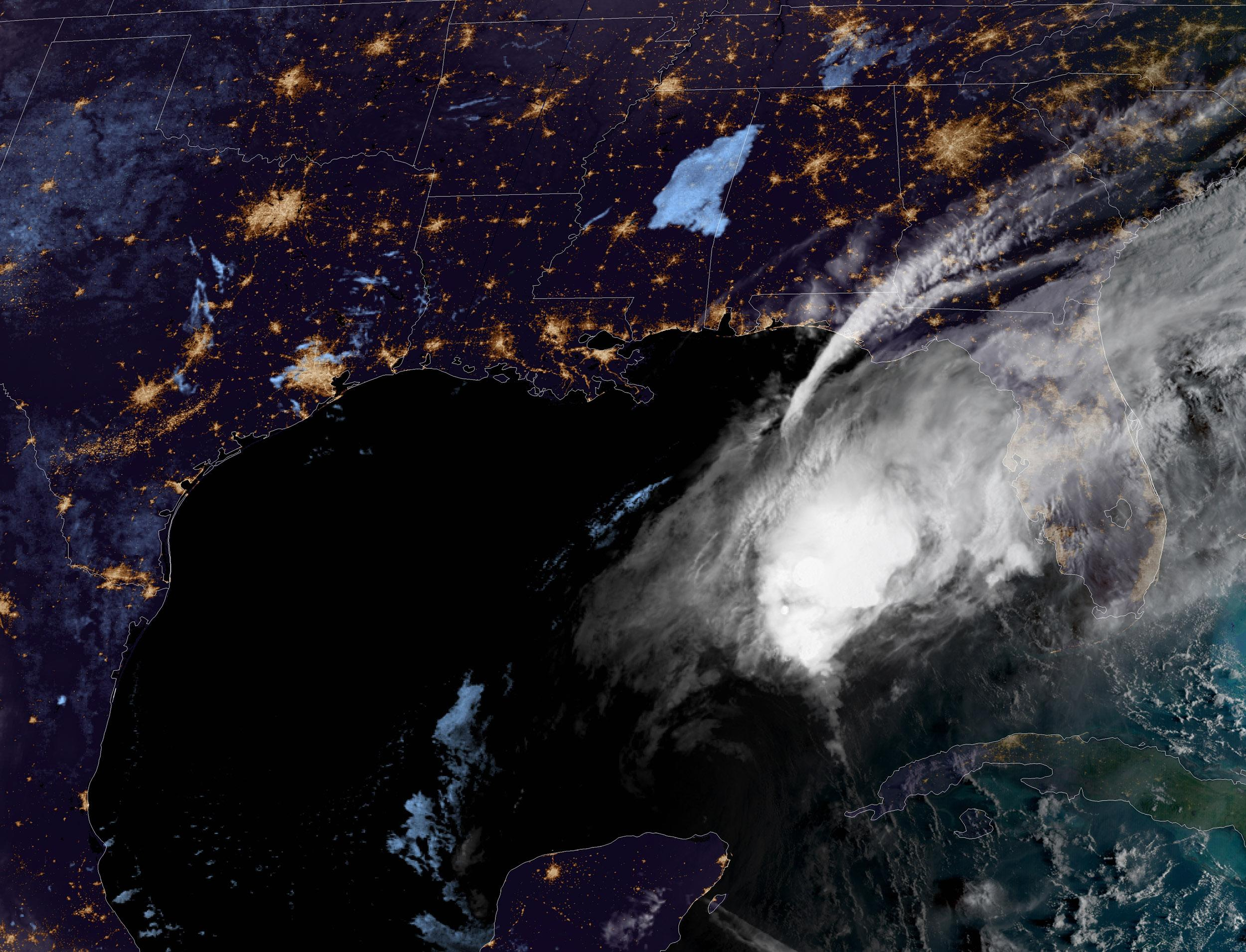 Delta, now a hurricane, breaks record for earliest 25th named storm