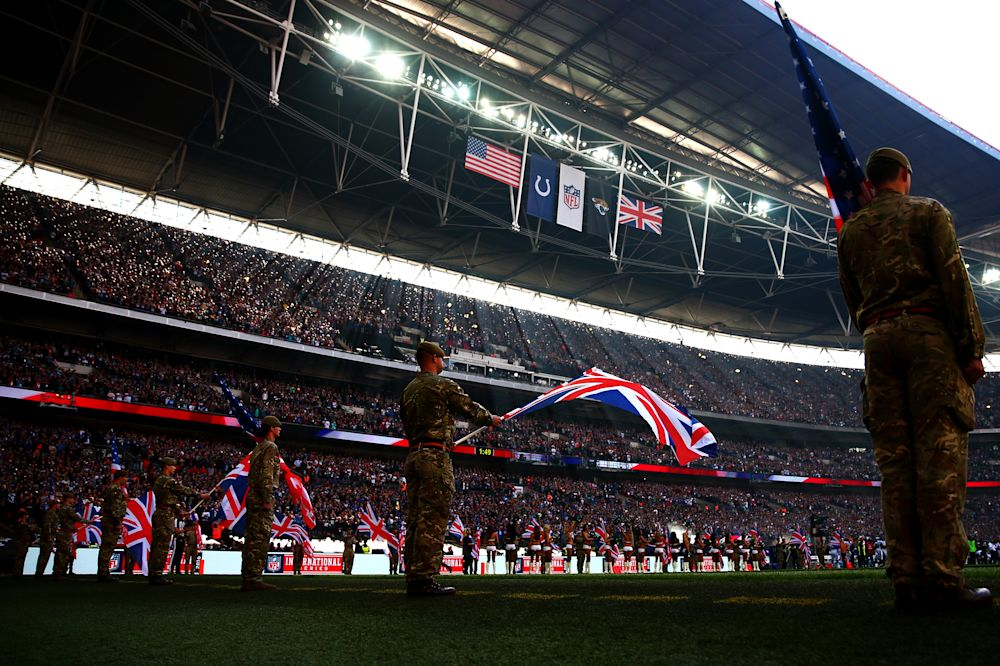 The International Series will feature four games in London this year, starting with Jaguars-Ravens on Sunday. (Getty Images)