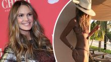 'Timeless beauty' Elle Macpherson poses in bikini at 55